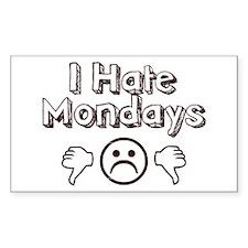 I Hate Mondays Rectangle Sticker 10 pk)
