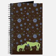 Horse Kisses Silhouette Journal