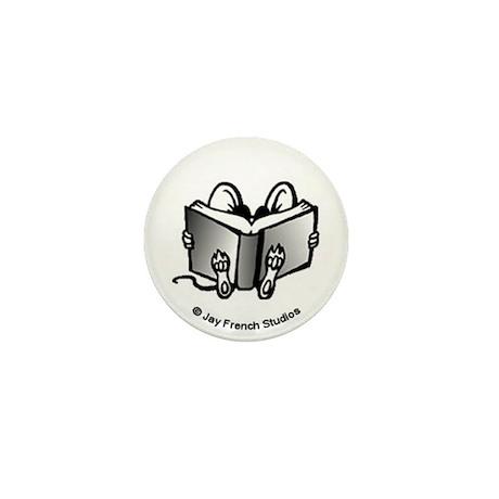 Book Mouse Mini Button