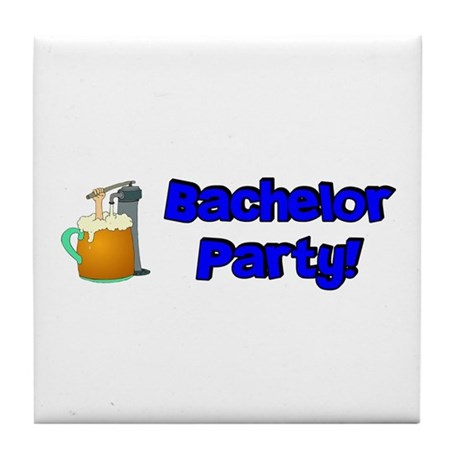 Bachelor Party Tile Coaster