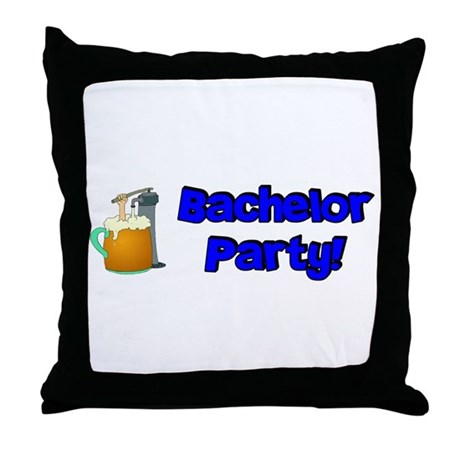 Bachelor Party Throw Pillow