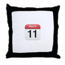 Apple iPhone Calendar March 11 Throw Pillow