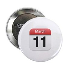"Apple iPhone Calendar March 11 2.25"" Button (10 pa"