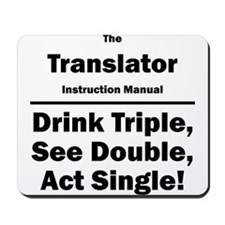 Translator Mousepad
