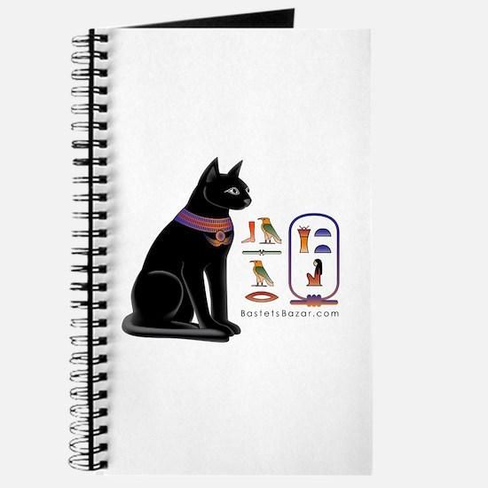 Cat Bastet & Egyptian Hieroglyphics Journal