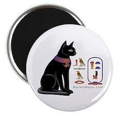 """Cat Bastet & Egyptian Hieroglyphics 2.25"""""""