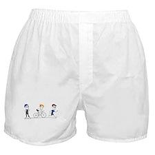tri guys-brown Boxer Shorts