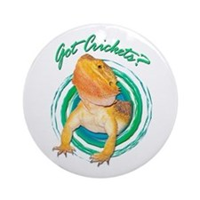 Bearded Dragon Got Crickets 4 Ornament (Round)