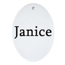 Janice - Personalized Keepsake (Oval)