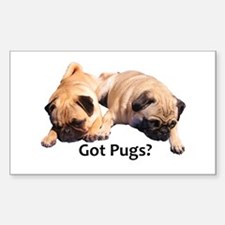 Got Pugs? Decal