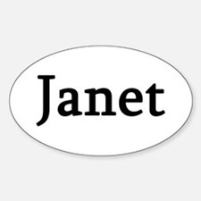 Janet - Personalized Oval Decal