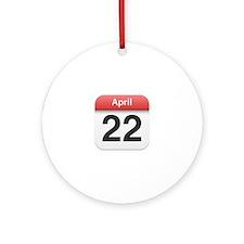 Apple iPhone Calendar April 22 Ornament (Round)