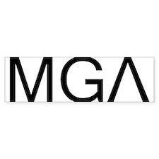 """""""MGA"""" Bumper Bumper Sticker"""