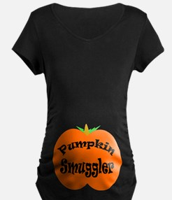 Pumpkin Smuggler Dark Maternity T-Shirt