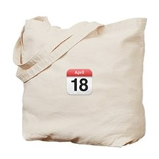 Apple iPhone Calendar April 18 Tote Bag