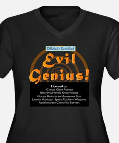 Citrix Certifiied Evil Genius Women's Plus Size V-