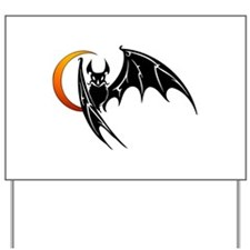 Vampire Bat & Moon Yard Sign