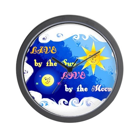 Liveby the Sun, Love by the Moon Wall Clock