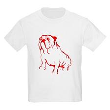 Bulldog Logo LT Red T-Shirt