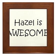 Unique Hazel Framed Tile