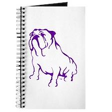 Bulldog Logo Purple Journal