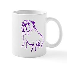 Bulldog Logo Purple Mug