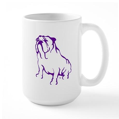 Bulldog Logo Purple Large Mug