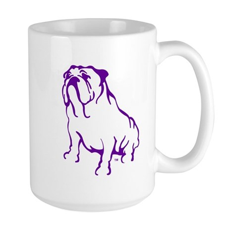 Bulldog Logo Purple Large Mug