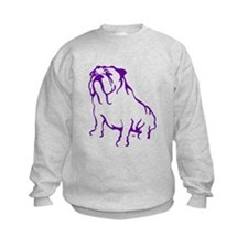 Bulldog Logo Purple Sweatshirt