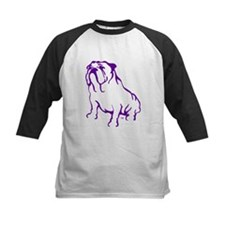 Bulldog Logo Purple Tee