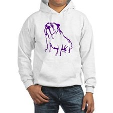 Bulldog Logo Purple Hoodie