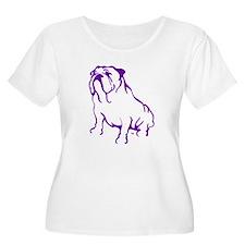 Bulldog Logo Purple T-Shirt