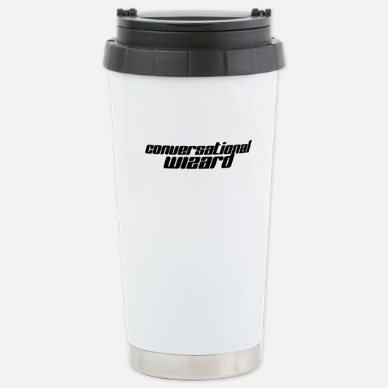Conversational Wizard Stainless Steel Travel Mug