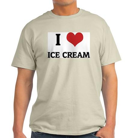 I Love Ice Cream Ash Grey T-Shirt