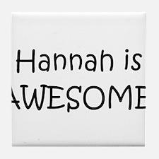 Cute Hannah Tile Coaster