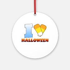 I Heart Halloween Round Ornament