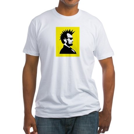 Abraham Lincoln Rocks! Fitted T-Shirt