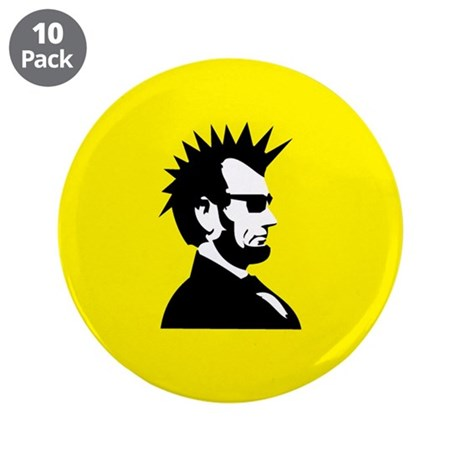 "Abraham Lincoln Rocks! 3.5"" Button (10 pack)"