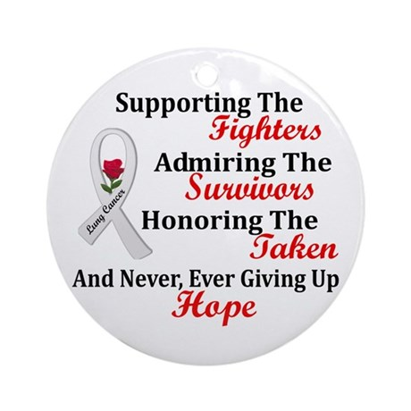 Support Admire Honor 2 PEARL Ornament (Round)