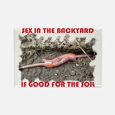 Back yard sex Rectangle Magnet (10 pack)