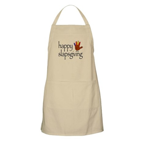 Happy Slapsgiving BBQ Apron