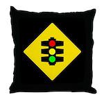 Traffic Light Sign - Throw Pillow