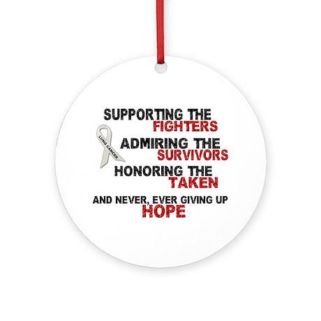 Support Admire Honor 3 PEARL Ornament (Round)