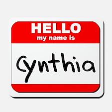 Hello my name is Cynthia Mousepad