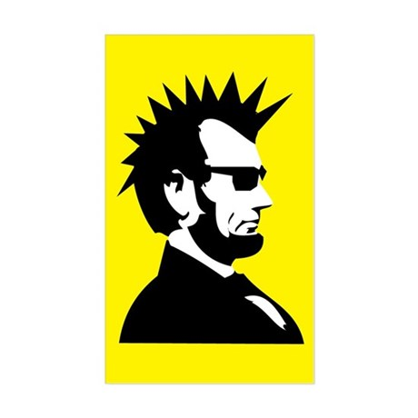 Abraham Lincoln Rocks! Rectangle Sticker