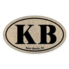 Kure Beach KB Euro Oval Oval Decal