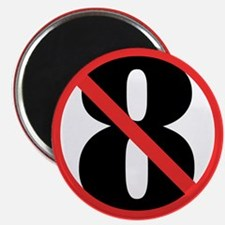 """NO ON 8 Red 2.25"""" Magnet (100 pack)"""