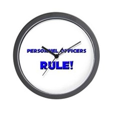 Personnel Officers Rule! Wall Clock