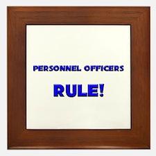 Personnel Officers Rule! Framed Tile
