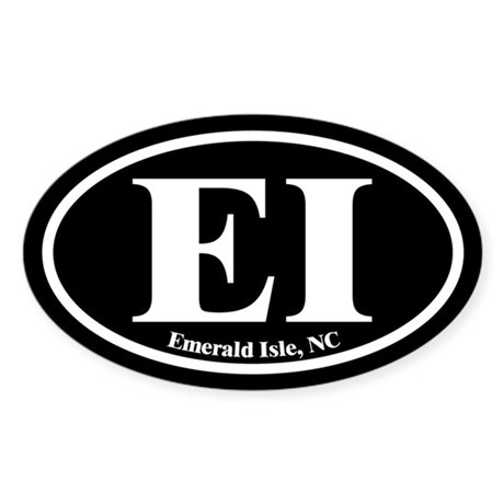 Emerald Isle EI Euro Oval Oval Sticker
